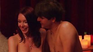 Swingers huge orgy in Playboy mansion image
