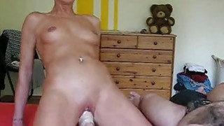 Horny housewife gets her_daily fisting training image