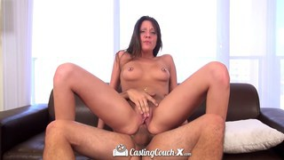 Hot brunette Brooke Myers on the casting couch image