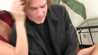 Image: Teen spinner Jenna Leigh rides dick while stepmom sucking balls
