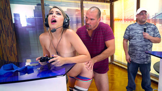 Kimber Lee having_steamy sex on a video game competition image