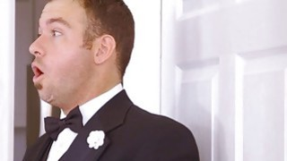 Chubby bride cheating and fucks best man on her wedding day image