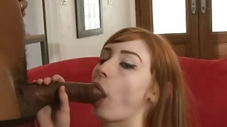 Cute redhead babe double_stuffed by massive black cocks image