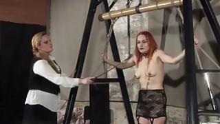 Lesbian play piercing punishment and extreme amate image