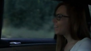 Female cab driver licks her customer image