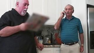 Horny Old Man Slips Hard Dick Down Teenage Chick's_Throat image
