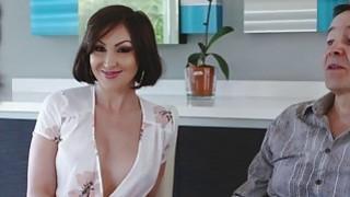 Hot Auntie Yasmin Scott suck_her nephews cock image