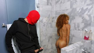Red Hood broke into a horny ebony_teen crib image