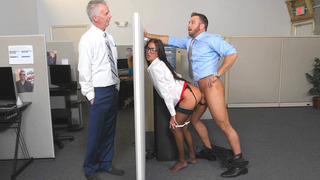 Aubrey Rose almost gets caught, getting fucked by her dad's employee image