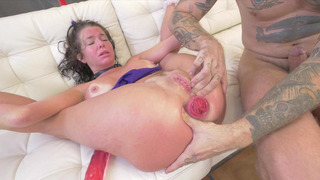 Veronica Avluv gets her prolapsed anus stuffed with long cock image