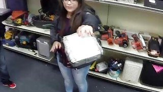 Brunette lesbian sucks and gets fucked in the pawnshop for their freedom image