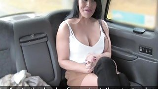 Image: Hottie Brunette with big tits fucks the driver hardcore