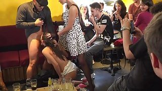 Sexy slave knows hot_to work crowd in public image