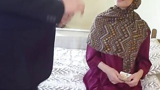Shameless arab wife enjoying big thick cock lover caught by husband having actual sex | Private arab sex village clip image