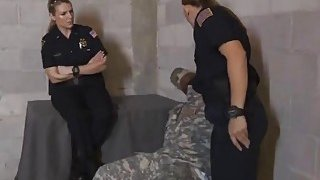 Huge breast blonde policewoman tamed aroused by small black cock army image