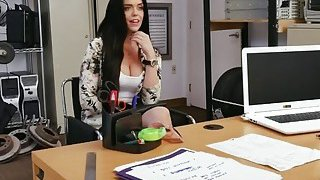 Image: Dark Haired Teen Rachel Takes Black Cock In Pussy