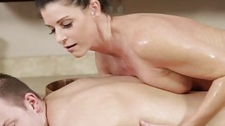 MILF and brunette India Summer_gets hammered after_closing the spa image