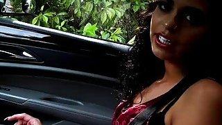 Hot Latina slut Vienna Black rides_a strangers cock image
