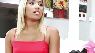 Blonde Teen Ally Berry Gives Deepthroat Blowjob image