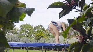Trampoline big tit blows thick dick image