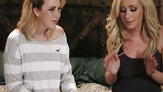 Blondes Samntha Rone and Hillary Scott in hot lesbian session image