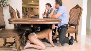Sofi Ryan blowobs beside by her husband and he does_not see it image