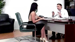 Image: Big tits Jasmine Jae sucks cock of the best lawyer