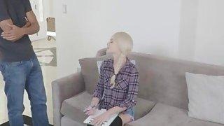 Elsa jean survey turns couch interracial fucking penetrating her tight pink pussy & bundinha redondinha de jeans image