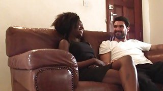 Image: Outstanding amateur homemade sex video with a beautiful ebony babe