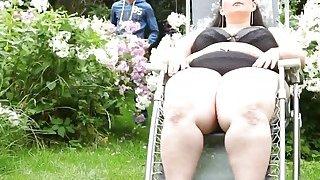 Image: Natural titted BBW brunette enjoying outdoor 69