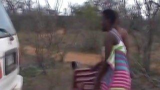 African sluts blowing big throbbing dicks outdoors image