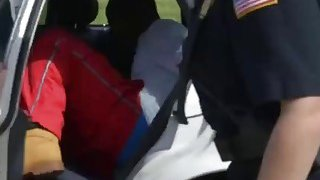 Brunette and Blonde MILF Cops Arrested And Fucked a Black Guy on the_Stairs image