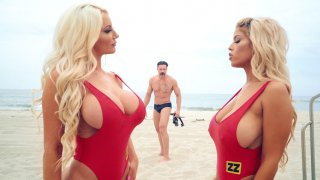 Bigtit Bridgette B and Nicolette Shea play with each other image