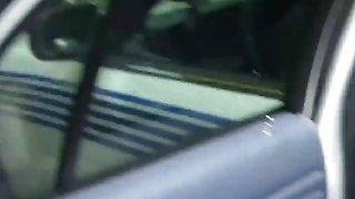 Dirty mouth plump blonde police cops abused big black cock traffic violator image