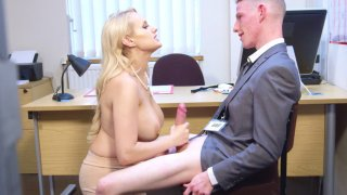 Angel Wicky fucks cock with her mouth and big boobs image