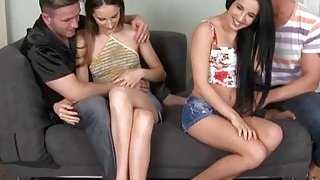 Hot foursome with bawdy euro doxies image