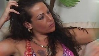 Extraordinary brunette MILF gives deep blowjob and_gets her pussy drilled image