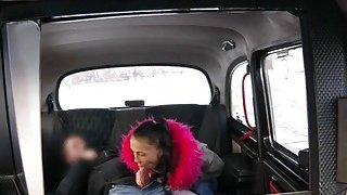 Big tits passenger gets her twat railed_in the backseat image