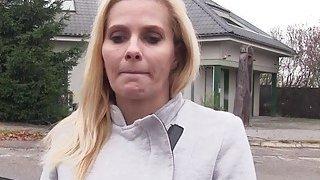 Image: Busty blonde_Euro Milf bangs in car