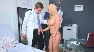 Christina Shine sucking huge Dr. Danny D's cock image