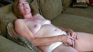 Image: USAwives Old Grandma Carmen_Hairy Pussy Fingering