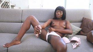 Image: Ebony cutie Ana Foxxx is doing erotic selfies on smartphone