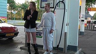 Gas station romance image