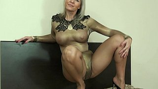 Naughty MILF in nylon image
