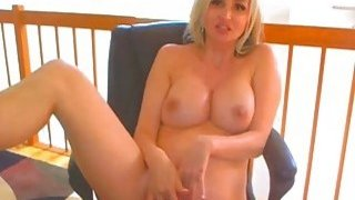 Sexy Blonde Babe Suck and Fuck a Dildo_on Cam image