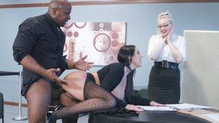 Image: MILF Angela White in ripped pantyhose gets banged by Prince Yashua