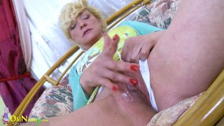 OldNannY Hot Mature Playing Alone With Herself image