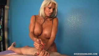 Milf  Offers Cock Massage Extra To Her Massage image