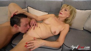 Image: AgedLovE Blonde Mature Fucked Hard By Youngster