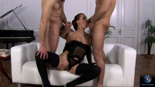 Image: Hot threesome with two hard dicks